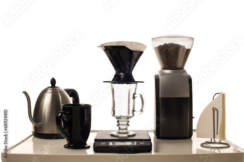 canvas print picture Coffee Brewing Station