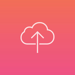 Cloud Upload  - Finely crafted line icons