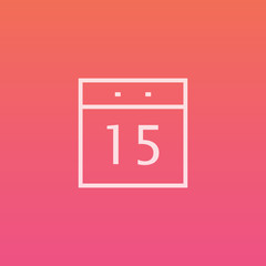 Calendar - Finely crafted line icons