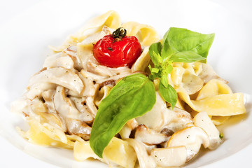 Fettuccine with mushrooms