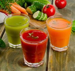 Healthy vegetable  juices