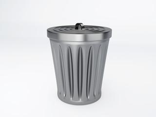 trash bin on white background