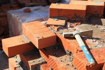 Hammer on the brick wall
