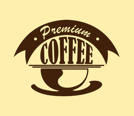 Coffee poster or icon
