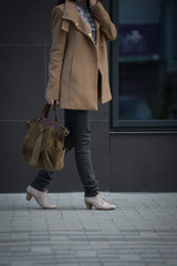 Walking business woman