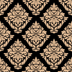 Beige colored floral seamless pattern