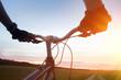 canvas print picture - Mountain biking