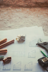 Plumbing Tools Arranged House Plans