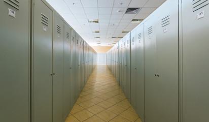 Lockers in a dressing room