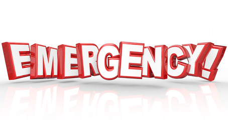 Emergency Word 3d Letters Big Problem Crisis