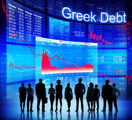 Group of People and Greek Debt Crisis
