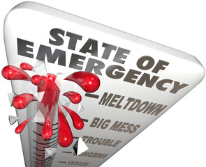 State of Emergency Thermometer Measure Problem Crisis Level