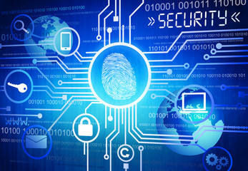 Digitally Image of Online Security Concept