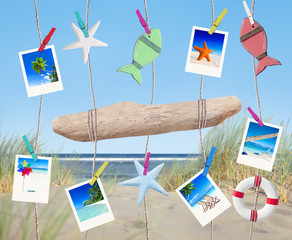 Pictures and Other Objects Hanging by the Beach