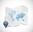 world map travel arrangements illustration design