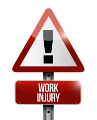 work injury warning sign illustration design