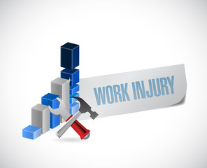 business work injury graph illustration design