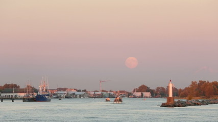 Full Moon, Steveston Harbor