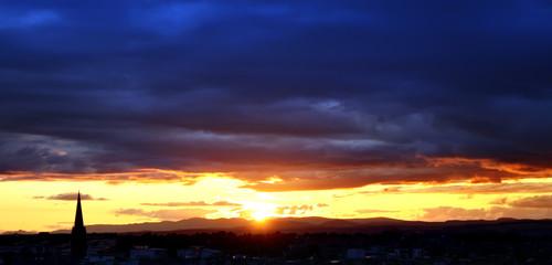 Silhouette of Edinburgh skyline