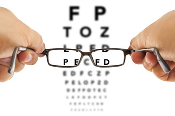 Glasses and eyesight test