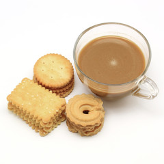 biscuit and cookie with coffee