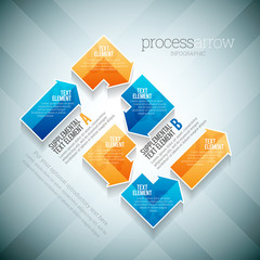 Process Arrow Infographic