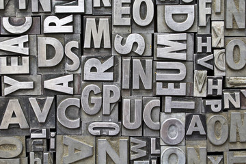 Metal Letterpress Letter Background
