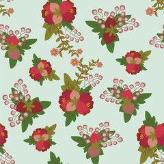 Vintage Floral Seamless pattern -illustration