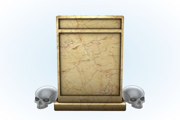 Tan Marble Tombstone Series I