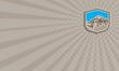 Business card Snow Plow Truck Shield Retro