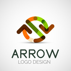 Vector arrow company logo