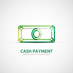 Vector cash payment company logo, business concept