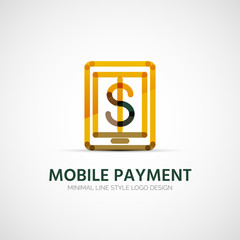 Mobile payment company logo, business concept