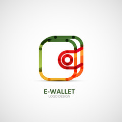 Vector wallet company logo, business concept