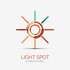 Light spot icon company logo, business concept