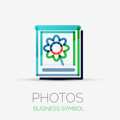 Photo gallery icon company logo, business concept