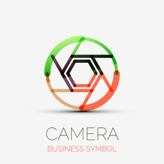 Shutter icon company logo, business symbol concept