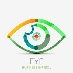 Humam eye company logo, business concept