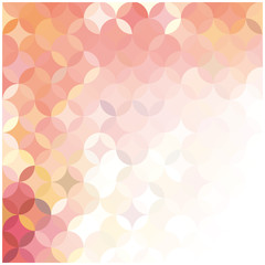 vector abstract background of colored circles