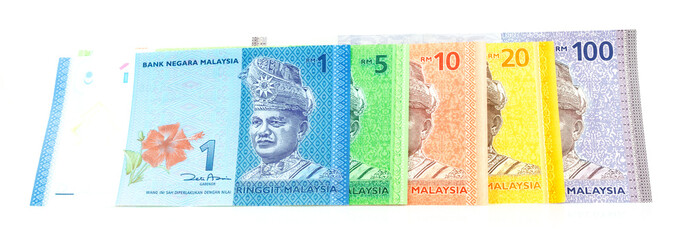 Series of New Malaysia Ringgit Currency Bank Notes
