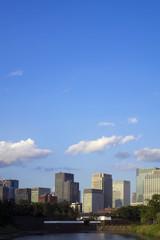 [東京都市風景]皇居桜田門と丸の内高層ビル群-964