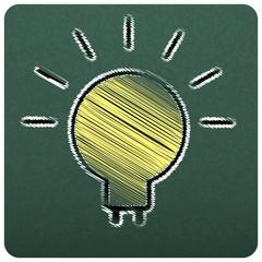 bulbs empty realistic black board in vector format