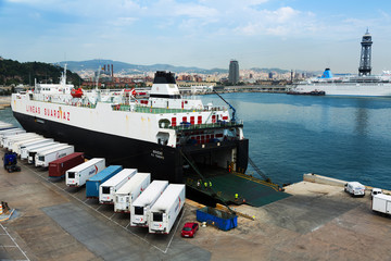 Ferry  at Port Vell.  Barcelona