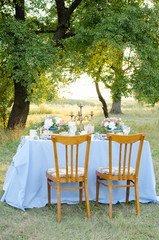 wedding table for two