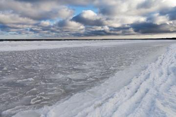 Icy Baltic coast.