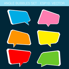 angle bubbles color set vector