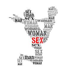 Woman man word cloud