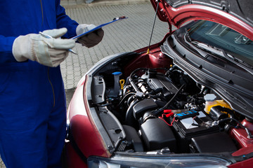 diagnosing a car engine