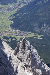 Deutschland, Blick von Ehrwald Zugspitze