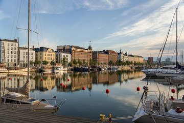 Helsinki, Finland. Complete calm in the harbor